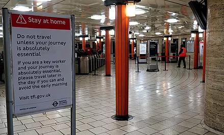 empty commuter station
